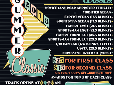 2018 Summer Classic On-Road Series