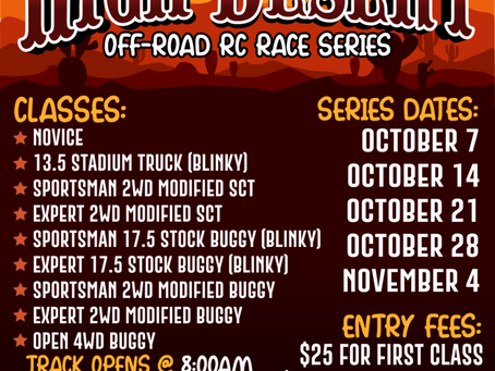 High Desert Off-Road RC Race Series 2018