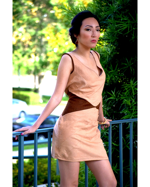 Coffee & Black Tea Dyed Dress