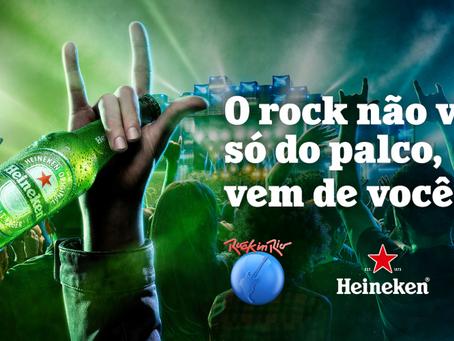 Heineken apresenta campanha para o Rock in Rio: 'O rock não vem só do palco, vem de você'