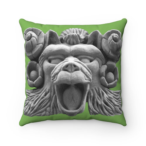 """Hippy Monkey"" Faces of The Upper West Spun Polyester Square Pillow"