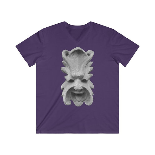 "Men's Fitted V-Neck Short Sleeve Tee ""Laughing Tongue"""