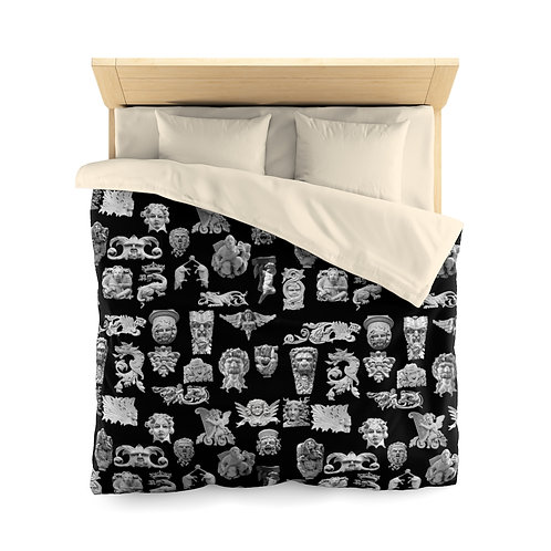 Faces of The Upper West Collage Microfiber Duvet Cover