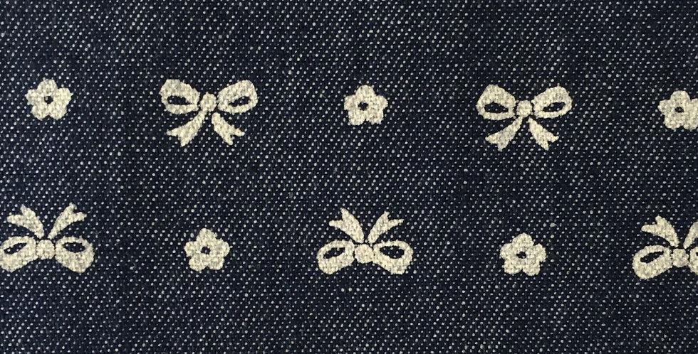 Denim Bows Fabric