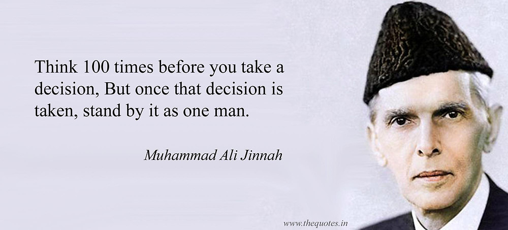 Make the Decision and be Responsible for it!