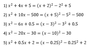 Example of Completing the Square