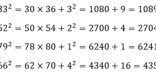 How to Quickly Square any 2-digit Number Mentally