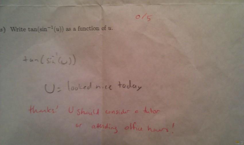 Math teachers are humans too! Math Fail!