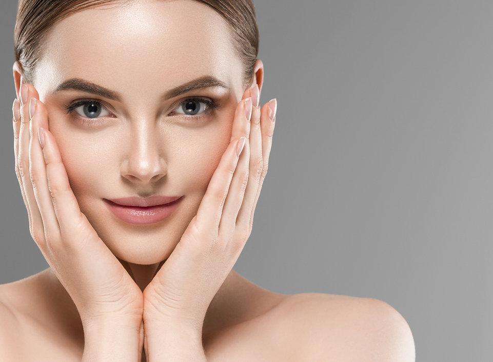 Healthy skin woman natural makeup beauty