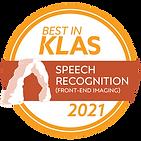 2021 KLAS Speech Recognition winner! 300.png