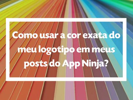 Como usar a cor exata do meu logotipo em meus posts do App Ninja?