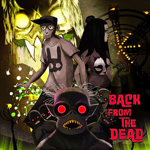 Back From The Dead record album design by Kuro Cabra Studios for Average Citizens