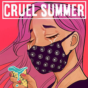 Cruel Summer album design by Kuro Cabra Studios for Average Citizens