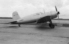 XF4U-1 from NACA in 1940
