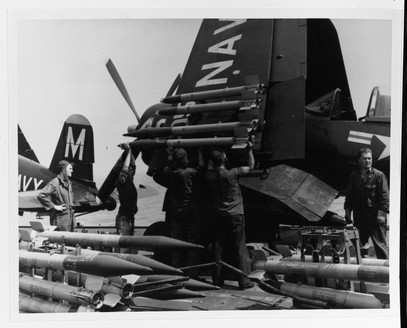 F4U-4B corsair on the USS Philippine Sea (CV-47)