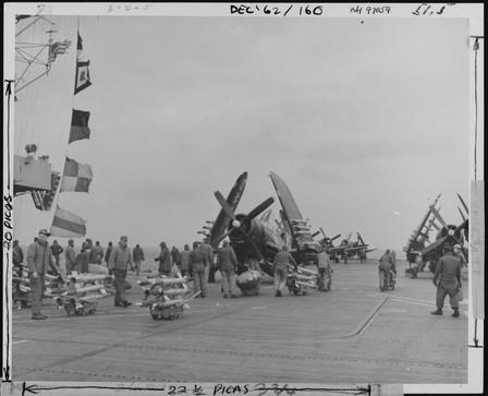 F4U-4B on the USS Badoeng Strait (CVE-116)