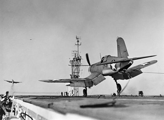 F4U-1 Corsair fighter of US Navy squadron VF-17