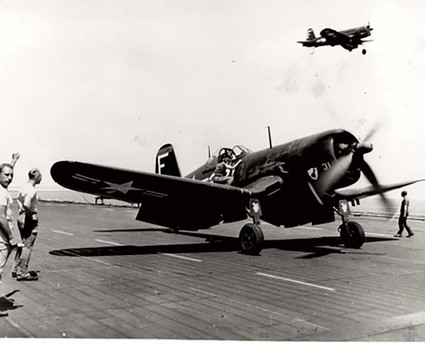 F4U-4 on USS Franklin D. Roosevelt (CVB-42)