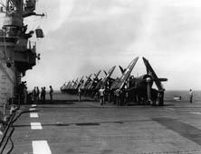 U.S. Navy Vought F4U-4 Corsairsof Bombing Fighting Squadron 3 (VBF-3)