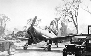 F4U-1 Corsair fighter of No. 14 Squadron Royal New Zealand Air Force