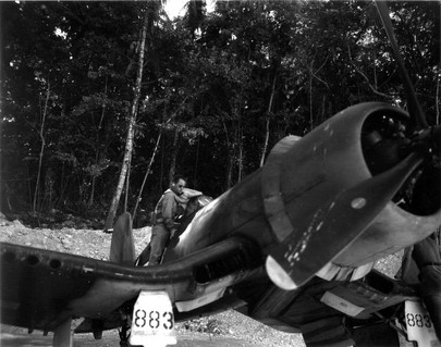 F4U-1 Corsair at the Barakoma airstrip on Vella LaVella Island
