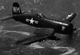 F4U-5 Corsair fighter of US Marine Corps headquarters squadron 33
