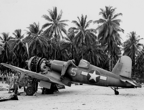 F4U-1A Corsair fighter of US Navy squadron VF-17