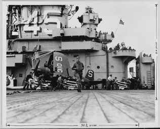 F4U_4B on the USS Valley Forge (CV-45)