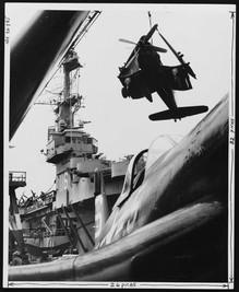 F4U-4B on yhe USS Badoeng Strait (CVE-116)