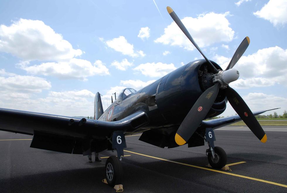 Former Argentinian F4U-5NL Bu#124541 modified in the F4U-7 standard with Bu #133704. French Navy
