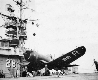 F4U-1 Corsair fighter of US Navy squadron VF-68A