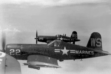 AU-1 Corsair aircraft of US Marine Corps squadron VMA-323