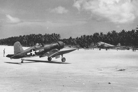 F4U-1A Corsair of Marine Squadron VMF-223 at Green Island