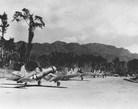 F4U-1 Corsairs of Marine Squadron VMF-214