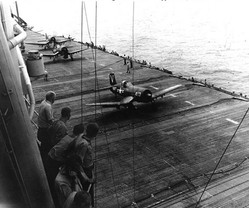 F4U-4B Corsair fighters of US Navy squadron VF-114