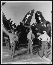 F4U-4B on the  USS Valley Forge (CV-45)
