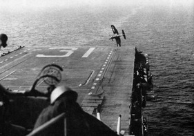 A U.S. Navy Vought F4U-4 Corsair from U.S. Naval Air Reserve Fighter Squadron 783 (VF-783)