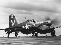 F4U-5 fighter of US Navy squadron VF-23