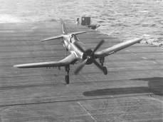 "A U.S. Navy Vought F4U-4 Corsair of Attack Squadron VA-74 ""Sunday Punchers"""