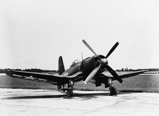A U.S. Navy Goodyear XF2G-1 Corsair with BuNo 14692