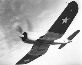 A Brewster F3A-1 Corsair in flight