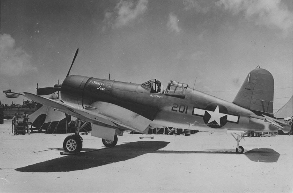 F4U-2 Vought Corsair from Major Everett H. Vaughan