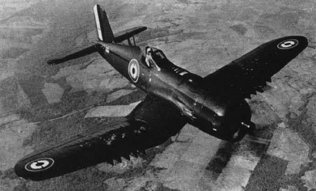 A newly delivered Vought F4U-7 Corsair for the French Aéronavale (Naval Air Force)