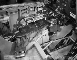 Cockpit  XF4U-1 Vought Corsair prototype