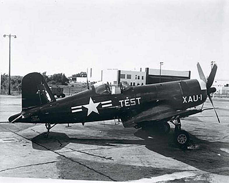 F4U-5N, BuNo. 124665, was converted to the  XF4U-6 prototype