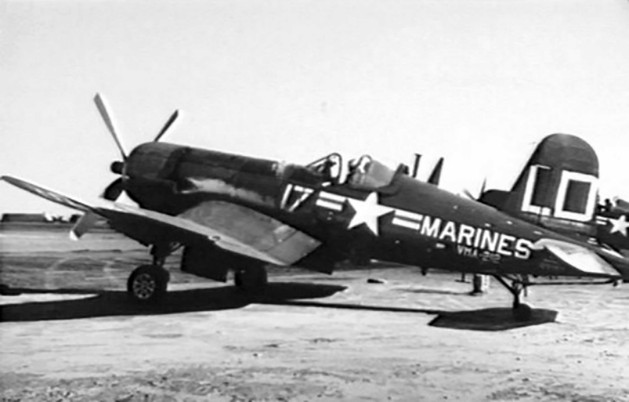 AU-1 Corsair fighter of US Marine Corps squadron VMF-212