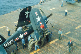 Vought F4U-4 Corsair fighter of fighter squadron VF-871