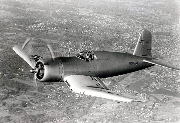 The U.S. Navy Vought XF4U-1 Corsair prototype (BuNo 1443)