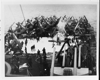 F4U-4 corsair on the USS Philippine Sea (CV-47)