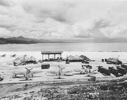US F4U-1 Corsair at the Barakoma airfield at Vella Lavella, Solomon Islands